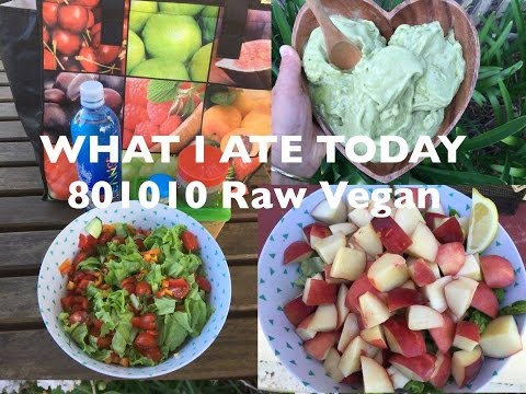 WEIGHT LOSS/ WHAT I ATE IN A DAY RAW VEGAN 801010