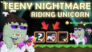 NEW NIGHTMARE TEENY DEVIL + RIDING UNICORN!! (NEW SET) OMG!! | GrowTopia