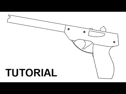 Tutorial simple 14 shot rubber band pistol youtube malvernweather Image collections