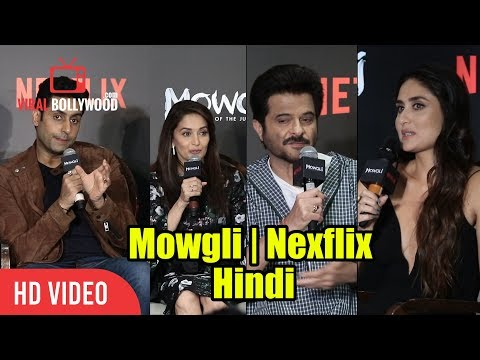 Kareena, Anil, Madhuri And Abhisekh Reaction On The Hindi Dubbing | Mowgli | Netflix
