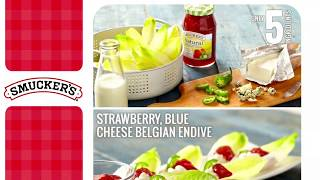 How To Make Belgian Endive Appetizer With Smucker's® Strawberry Fruit Spread