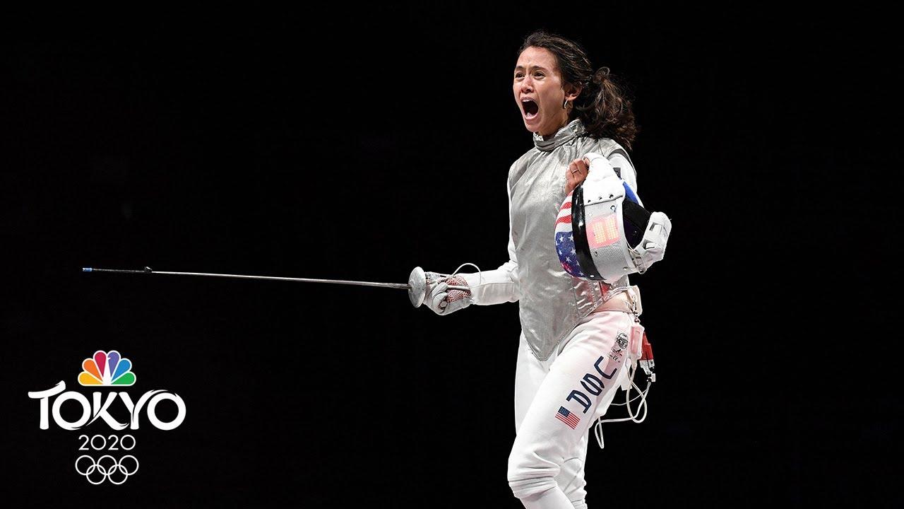 US fencer Lee Kiefer makes history, winning gold in women's ...