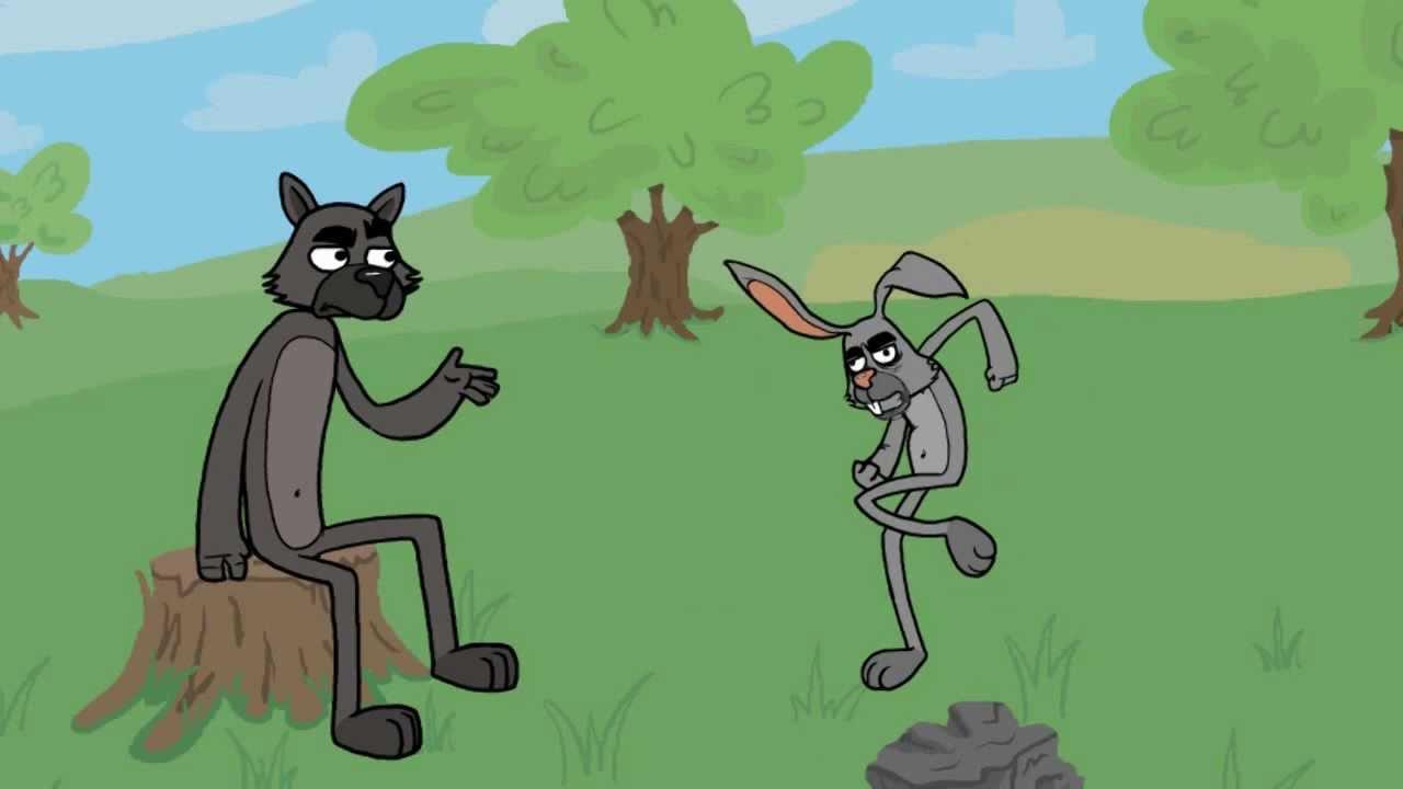 Как нарисовать Зайца и Волка из Ну Погоди! карандашом