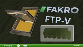 Монтаж мансардного вікна FAKRO FTP-V і коміра ESV
