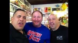 Wayde and Brett at Rocket Fizz
