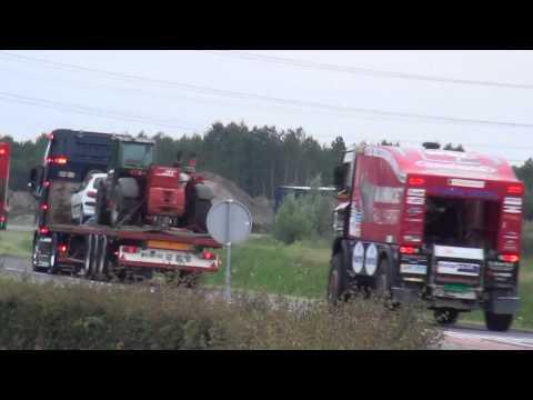 aankomst Volvo van J B Trading met Dakar trucks
