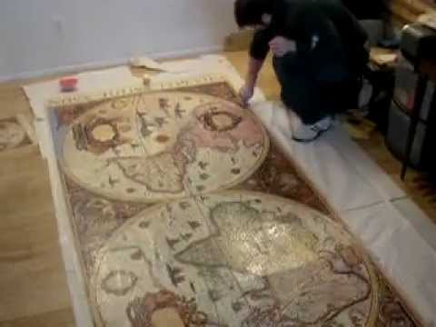 Gluing together the 13200 piece old map puzzle youtube gumiabroncs Gallery