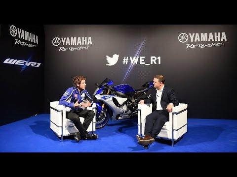 Valentino Rossi Live Chat #We_R1 - New Yamaha YZF-R1 Press Première - EICMA 2014