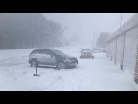 So called Blizzard Northern New Jersey 3-2-2018 in Newfoundland , New Jersey