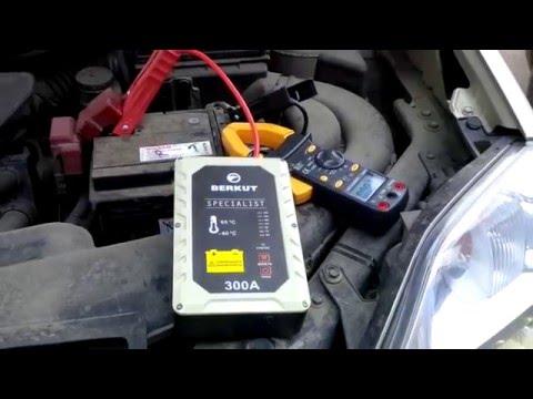 Тест конденсаторного пускового устройства Berkut Specialist на Nissan X-Trail