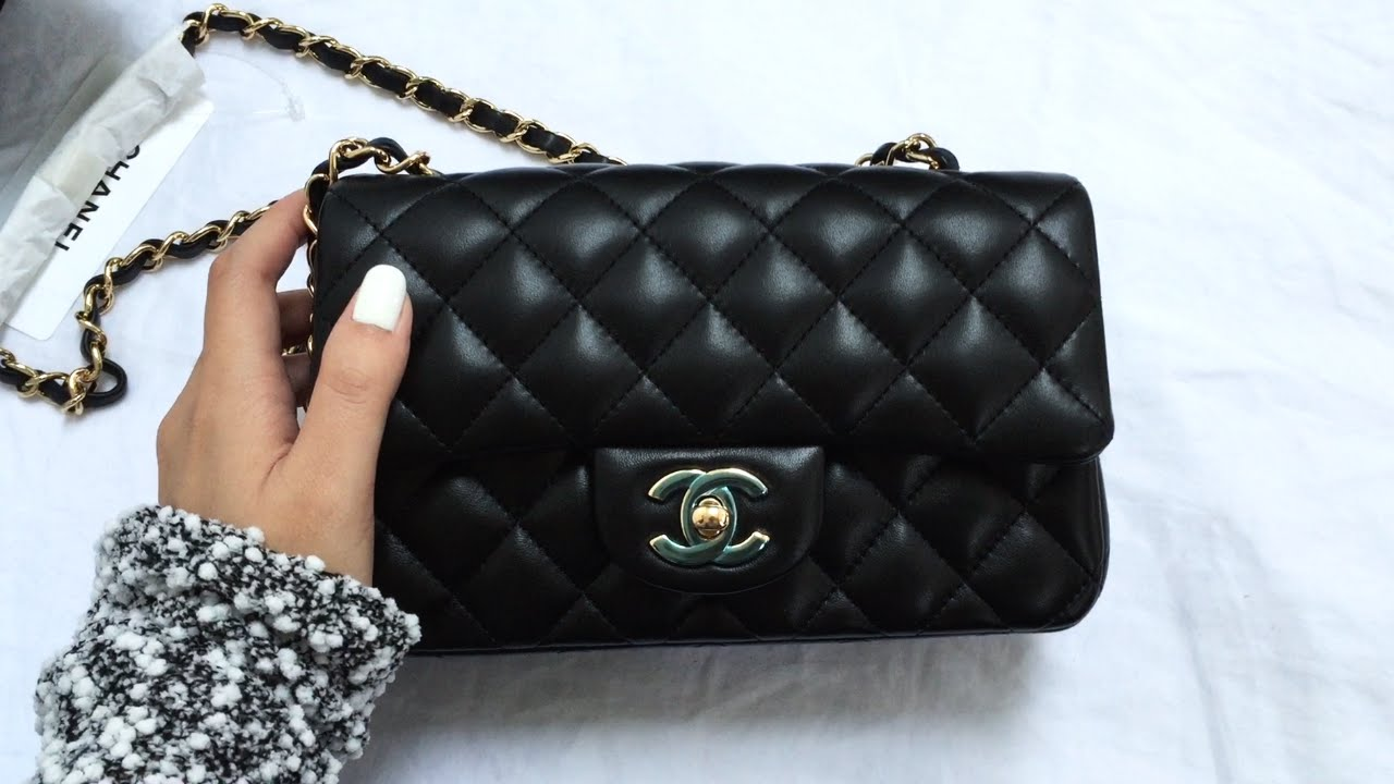02b0634b24c8 Chanel Classic Flap Rectangle Mini Unboxing - YouTube