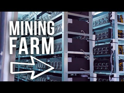 Inside of a HUGE BITCOIN mining FARM !
