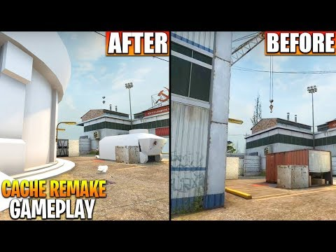 NEW CSGO CACHE REMAKE Gameplay!! Cache Map Updated A Site Leaked (CS GO Cache Remake Soon)