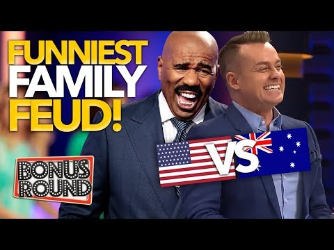 FUNNIEST ANSWERS EVER on Family Feud US & Australia!