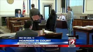 Judge speaks frankly to hoarding homeowner