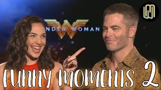 Gal Gadot and Chris Pine Funny Moments PART 2 - Wonder Woman