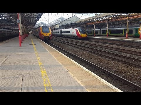 Trains at Crewe WCML (ATW Diverts and Rush hour) 30/3/17