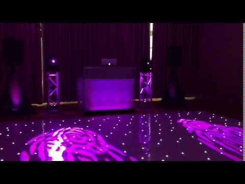 Wedding DJ, Wolverhampton. LED starlit dance floor