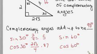 26 - Sine and Cosine of Complementary Angles