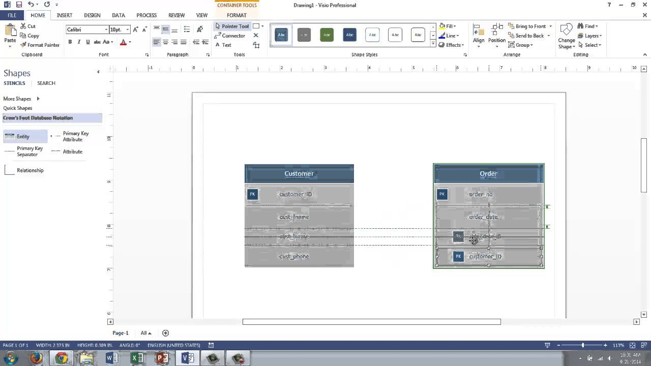 Visio 2013 conceptual data modeling youtube pronofoot35fo Choice Image