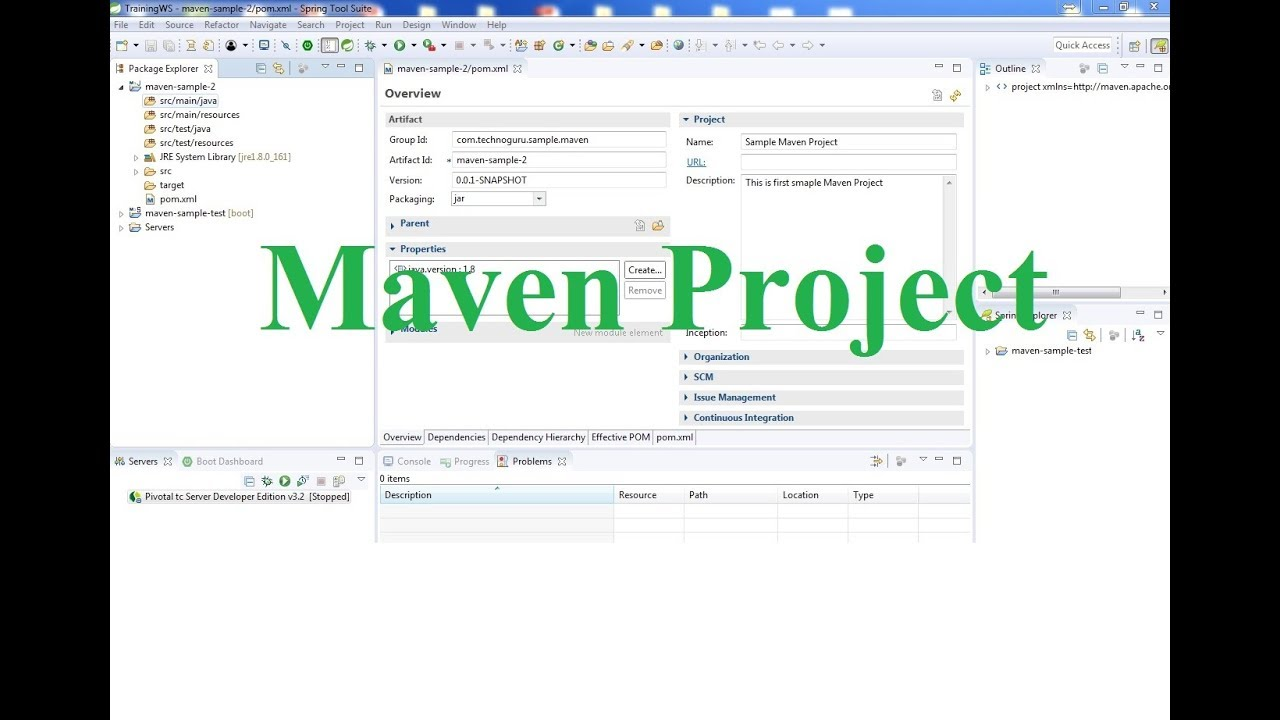 02  Spring Boot Tutorial - Create Maven Project in Spring Tool Suite - STS  IDE
