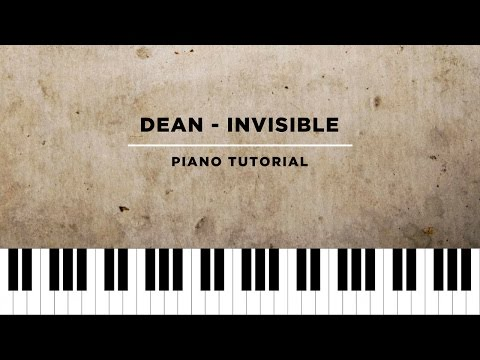 DEAN - Invisible/The Unknown Guest (불청객) (Piano Tutorial