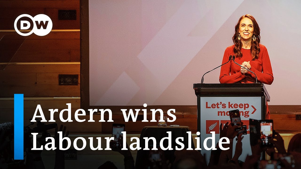Download New Zealand PM Ardern's Labour Party wins landslide victory | DW News