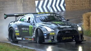 Nissan R35 GT-R Liberty Walk (1200HP) LSX 454 Turbo V8 Engine - Flames, Drifts, Accelerations!