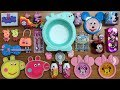 Peppa Pig and Mickey Mouse Slime | Mixing Random Thing into Clear Slime and Glossy Slime