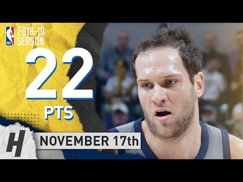 Bojan Bogdanovic Full Highlights Pacers vs Hawks 2018.11.17 - 22 Pts, 4 Rebounds!