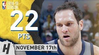 Bojan Bogdanovic Full Highlights Pacers vs Hawks 2018.11.17 - 22 Pts, 4 Rebounds! thumbnail