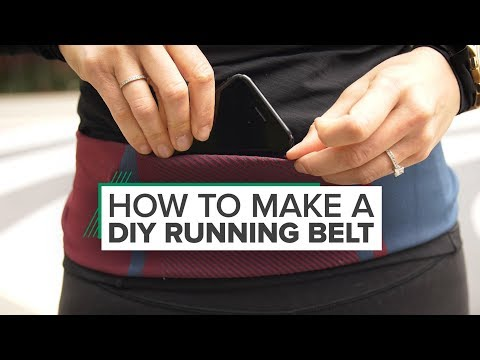 How to make a DIY running belt