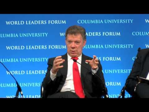 President Juan Manuel Santos of Colombia - Columbia World Leaders Forum (English)