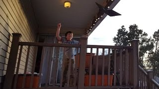 Kid Temper Tantrum Throws Daddy's Laptop Over Deck Cus He Was Told To Clean [ Original ]