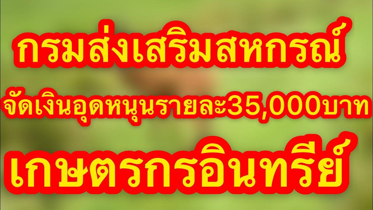 กรมส่งเสริมสหกรณ์ เคาะ( เกษตรอินทรีย์)ในนิคมสหกรณ์ทั่วประเทศ จัดเงินอุดหนุนรายละ 35,000 บาท