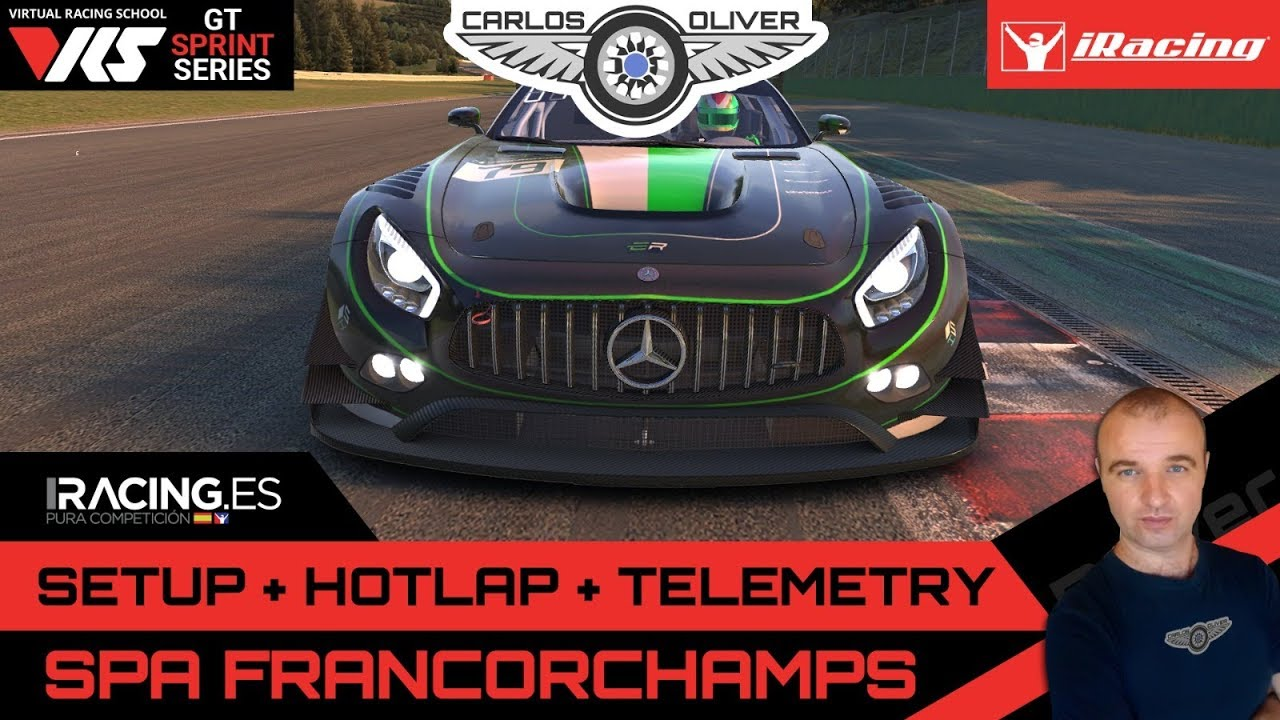 iRacing Hotlap @Spa Francorchamps | Mercedes GT3 | setup+telemetry 2:15,615  Carlos Oliver