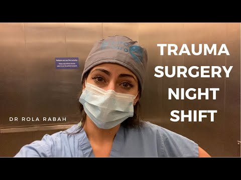 Night Shift On Trauma Surgery During COVID | VLOG: Day in the Life of a Surgery Resident