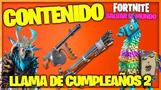 CONTENT CALL OF BIRTHDAY 2 - FORTNITE SAVE THE WORLD