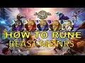 SUMMONERS WAR : HOW TO RUNE - BEAST MONKS (Kumar, Ritesh, Chandra, Rahul, Shazam)