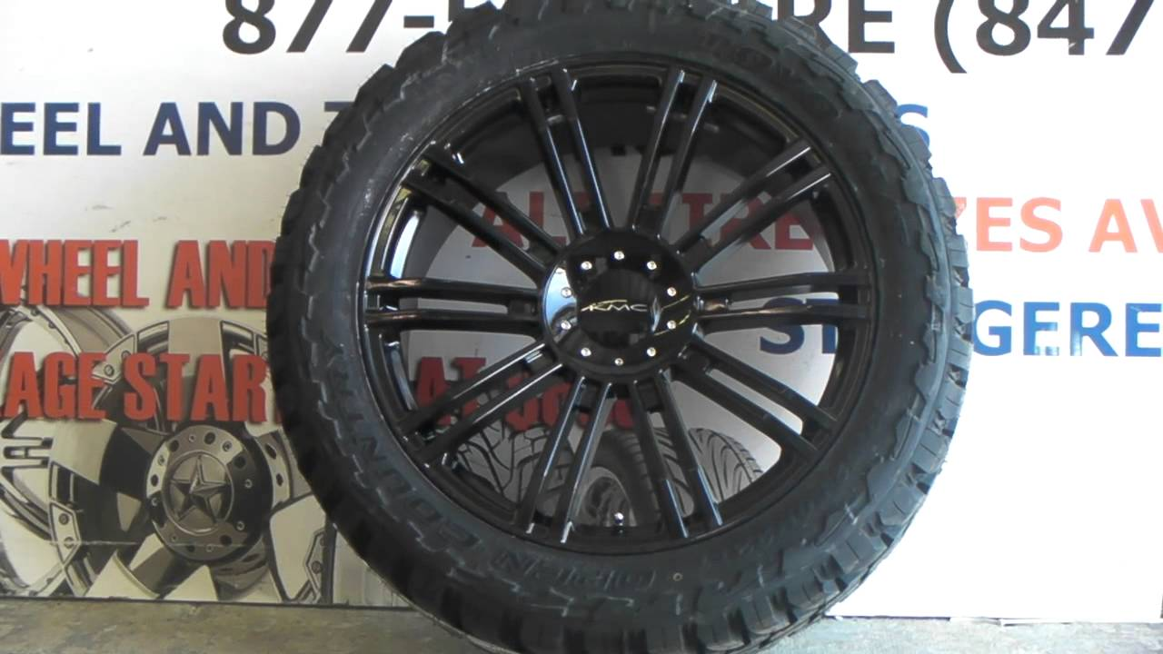 22 Inch Tires >> Www Dubsandtires Com 22 Inch Kmc D2 Black Rims Off Road Toyo Tires