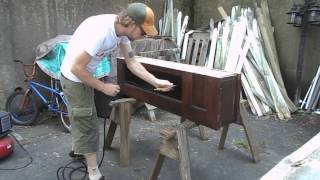 Vintage Door And Vintage Live Edge Cherry Slab Benches -tim Sway Perspectives