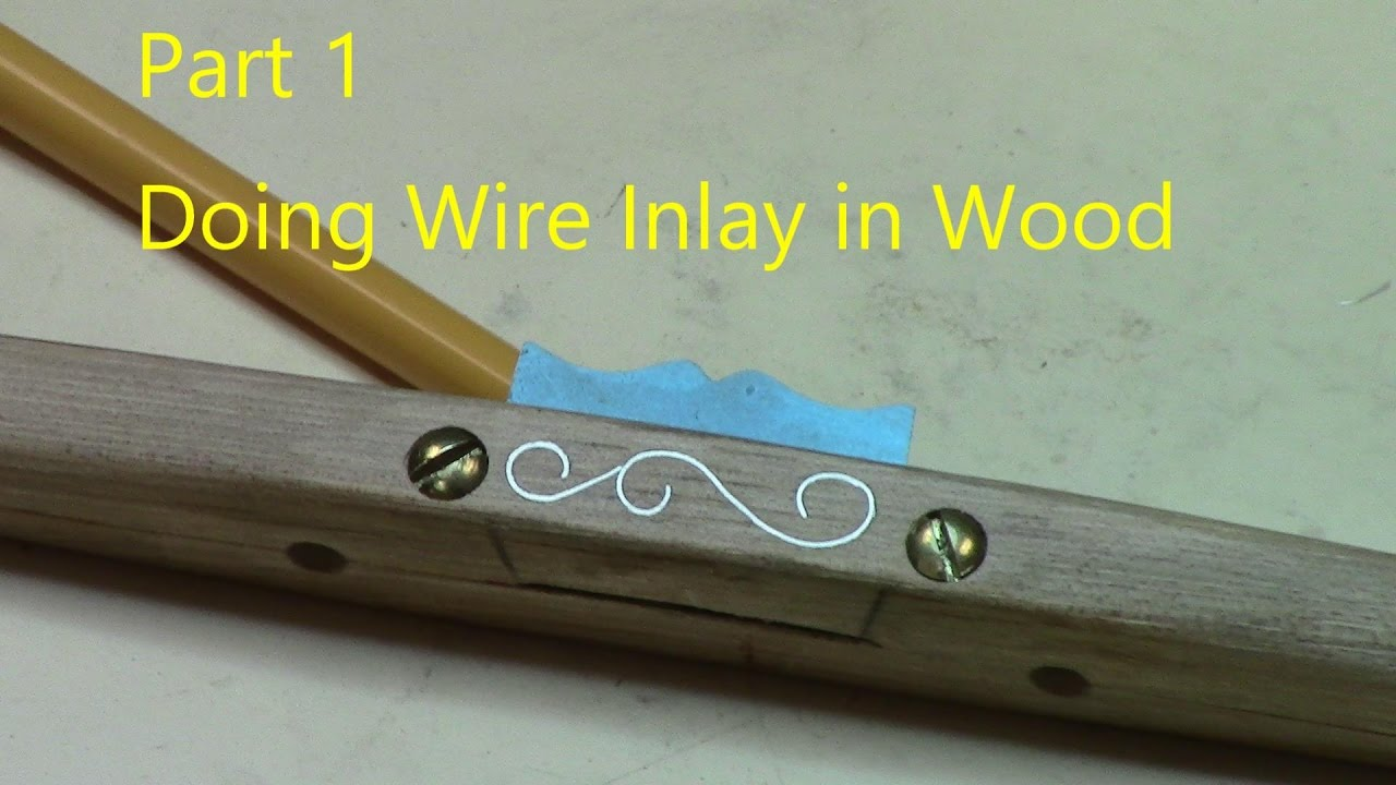 Tools and Tips for doing wire inlay in wood - YouTube