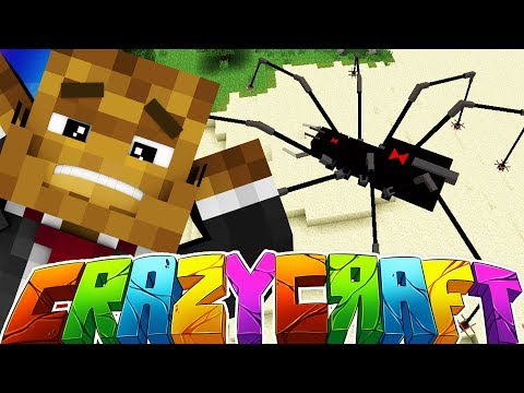 EVIL BROODMOTHER SPIDER BOSS? - MINECRAFT'S OLDEST MOD PACK CRAZY CRAFT SURVIVAL #26