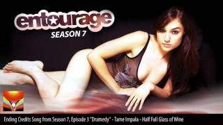 Entourage Season 7 Episode 3 ending credits song  - 'Half Full Glass Of Wine' by Tame Impala [HD]