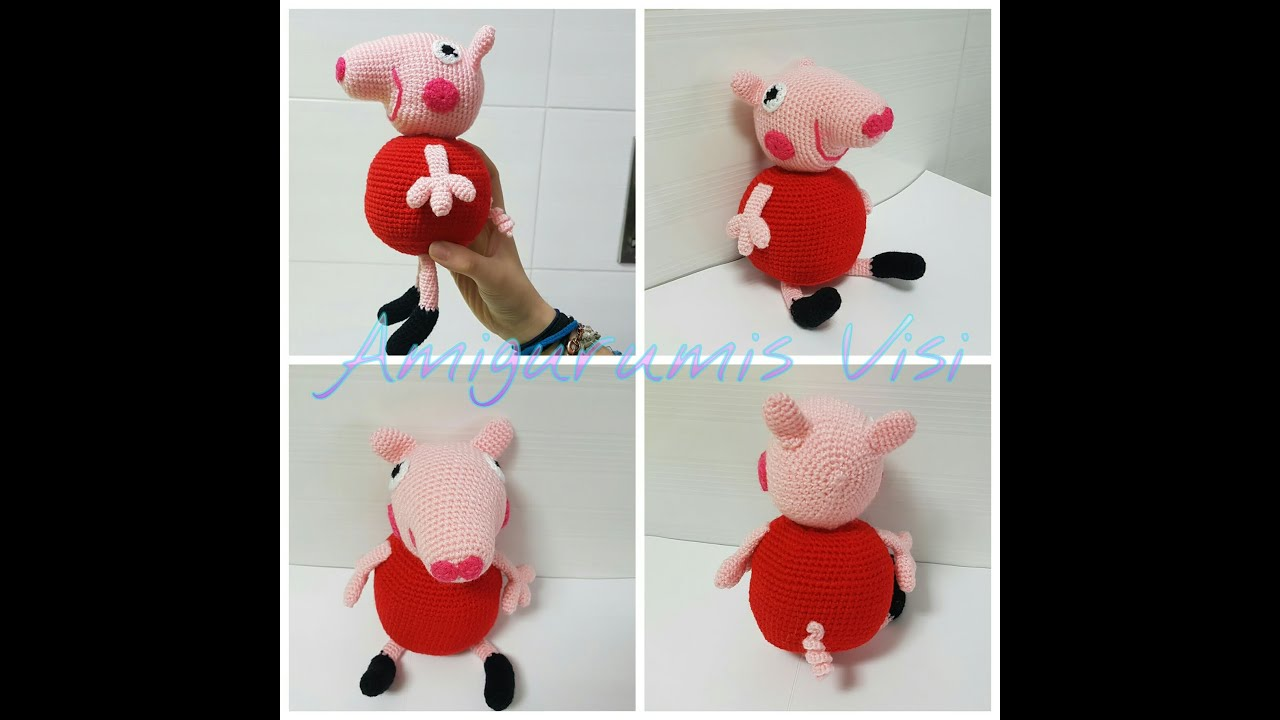 Tutorial Peppa Pig Amigurumi | How to crochet Peppa Pig Amigurumi ... | 720x1280