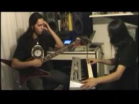 Gus G. and Bob Katsionis from Firewind shredding in the studio.
