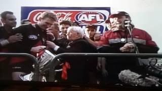 AFL cup presentation
