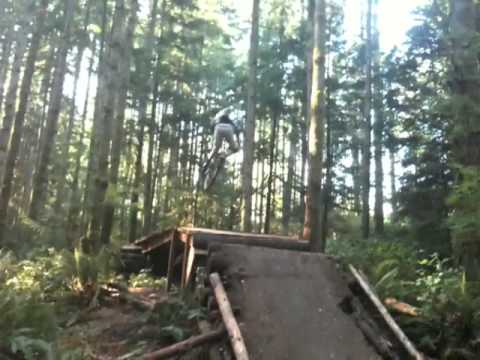 Christopher Carr and Luke Hughes Duthie Moutain bike park