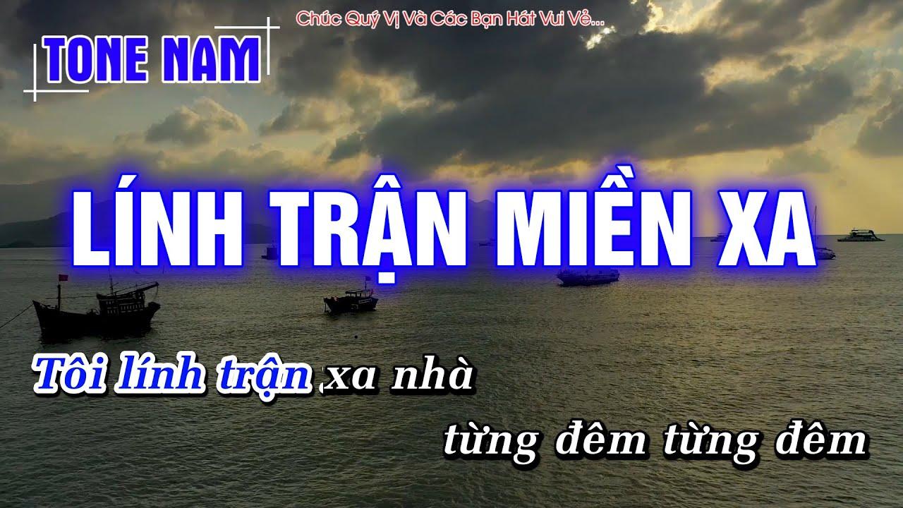 Lính Trận Miền Xa Karaoke Tone Nam Rumba – Hoàng Dũng Karaoke