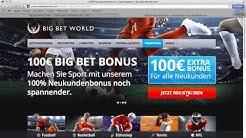 Big Bet World Bonus für Neukunden